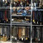 Scaffalatura appendiabiti Negozio abbigliamento