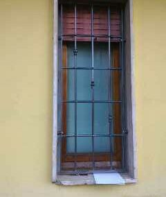 Grata fissa con lavorazioni per finestra